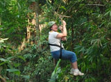 Over 3 amazing hours ziplining, easy one hour free VIP bus ride from Chiang Mai